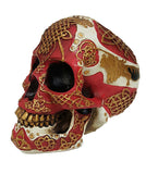 Golden Celtic Lion Skull Bank Hand Painted Resin Figurine