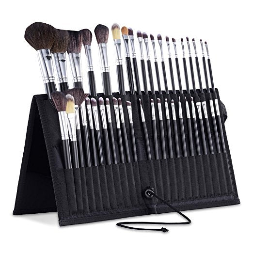 Professional Travel Makeup Brush Holder Soft Sided Nylon Fabric