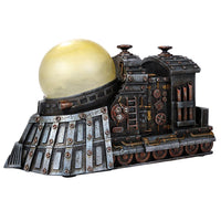 Steampunk Thermal Steam Engine and Light Source Powered Locomotive Train Collectible Sci Fi Fantasy Figurine with Color Changing LED Lights Battery Operated 9.5 Inches Long