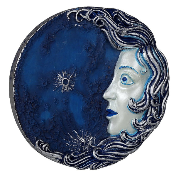 Decorative Luna Goddess Round Wall Plaque Designed by Oberon Zell 5.75 Inches Diameter