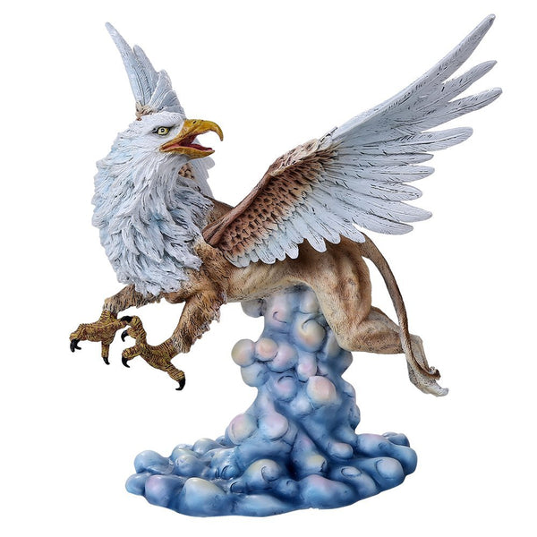 Legendary Heraldic Creature Griffin Figurine With Eagle Head Wings and Talons on Lioness Body Collectible Figurine