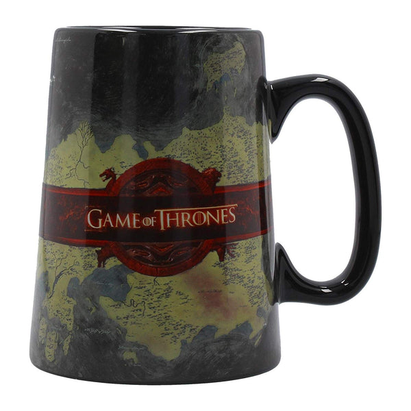Official licensed Game of Thrones World Map Ceramic Tankard Coffee Drinking Mug