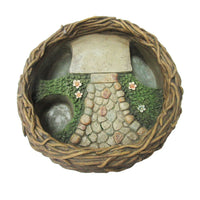 Mini Fairy Garden Bird Nest Planter Pot For DYI Decorative Miniature Fairyland Garden Display Planter 10L