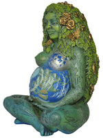 Millennial Gaia Mother Earth Goddess Statue by Oberon Zell 7 Inch Tall