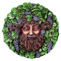 Decorative Bacchus Round Wall Plaque Designed by Oberon Zell 5.75 Inches Diameter