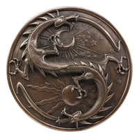 "Yin Yang Dragon ""Double Dragon Alchemy"" Wall Plaque by Maxine Miller"