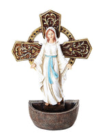 Our Lady of Grace Holy Water Font Religious Sacrament Wall Decor 6.75 inches