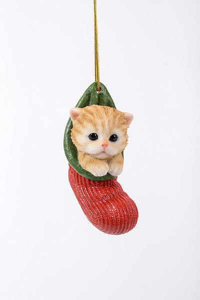 Cat Kitten Decorative Holiday Festive Christmas Hanging Ornament