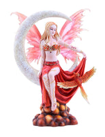 Four Elements Celestial Moon Fairy Figurine Earth Wind Frost Fire Collectible Figurine Nene Thomas Art Inspiration Official Licensed Collectible 12 Inch Tall (Fire)