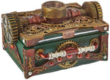 Steampunk Gear Compass Trinket / Jewelry Box