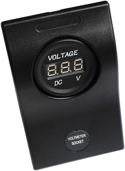 BANDC Voltmeter Socket Panel 3a Breakers Waterproof Marine/boat/rv 5-30v Dc