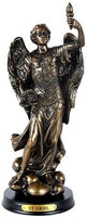 Pacific Giftware St. Uriel Archangel of Light and Wisdom Figurine 8 Inch Tall Wooden Base with Brass Name Plate