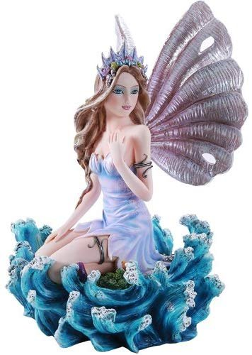 Pacific Giftware Ocean Secrets Sea Fairy with Seashell Wings Collectible Figurine 10 Inch