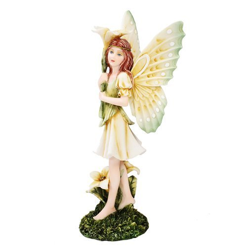 Meadowland Standing Flower Fairy Statue Polyresin Figurine Home Decor