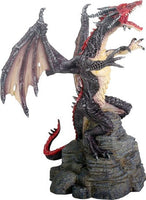 YTC Summit International Black and Red Flying Dragon Fantasy Statue Figurine Mythical Decoration New