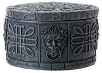 Round Decorative Celtic Box with Knot Patterns
