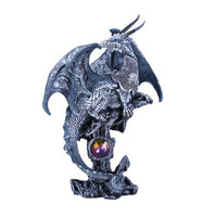 Pacific Giftware Small Winged Guardian Water Dragon Knight with Rhinestone Rock Crystal