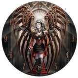 STEAMPUNK AVENGER ROUND WALL CLOCK BY ANNE STOKES