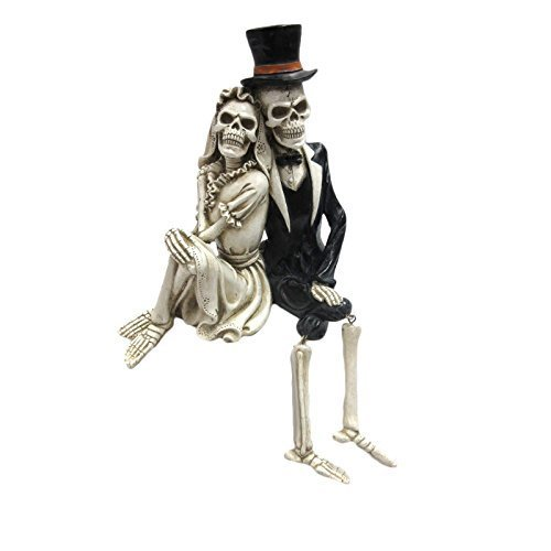 Pacific Giftware Day of The Dead Skeleton Wedding Couple Shelf Sitter Figurine 8 inch