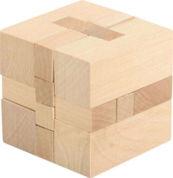 Frank Lloyd Wright Cube 3D Block Puzzle Made with Real Wood