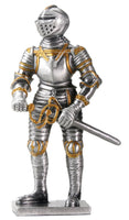 YTC Pewter English Knight Statue Figurine Decoration