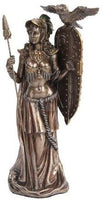 PTC 10 Inch Bronze Colored Athena Figurine Holding Shield with Owl