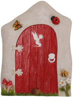 Pacific Giftware Miniature Fairy Garden of Enchantment Fairy Gnome Hobbit Cottage Red Door 4 Inches