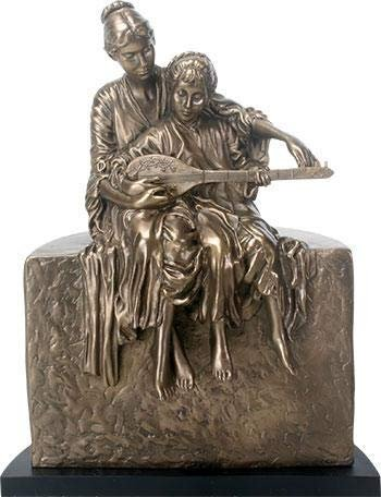 SUMMIT COLLECTION A Classic Music Lesson Statue - A Harmonic Sculptural Interpretation, 14.25 Inches