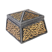 Medieval Celtic Keepers Jewelry Box Figurine Made of Polyresin