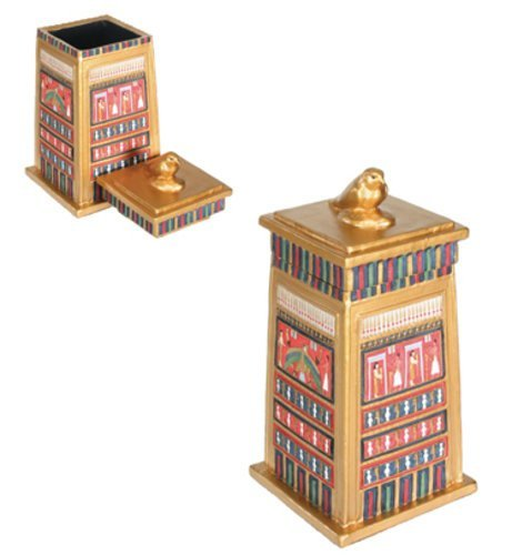 Falcon Box Collectible Egyptian Decoration Jewelry Container Model