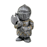 PTC 4.5 Inch Small Armored Medieval Knight with Axe Statue Figurine