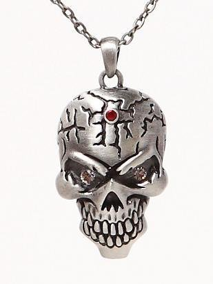 Pacific Giftware Lead Free Alloy Skullface Necklace