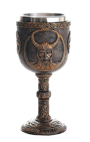 Norse Mythology Trickster God Loki Wine Goblet Chalice Cup 7oz