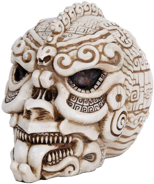 Aztec Mexica Skull Fierce Figurine Made of Polyresin
