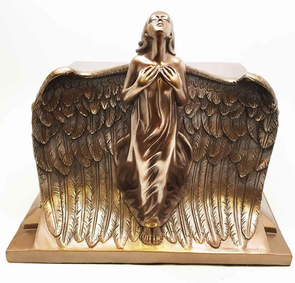 HEAVEN BOUND ASCENDING ANGEL BOTTOM LOAD CREMATION URN FIGURINE FUNERAL SUPPLY
