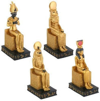 Egyptian Seated Gods Figurine Decoration, Set of 4