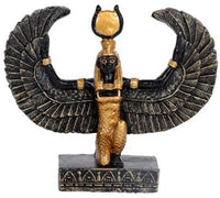 Egyptian Small Isis Mini Figurine Made of Polyresin