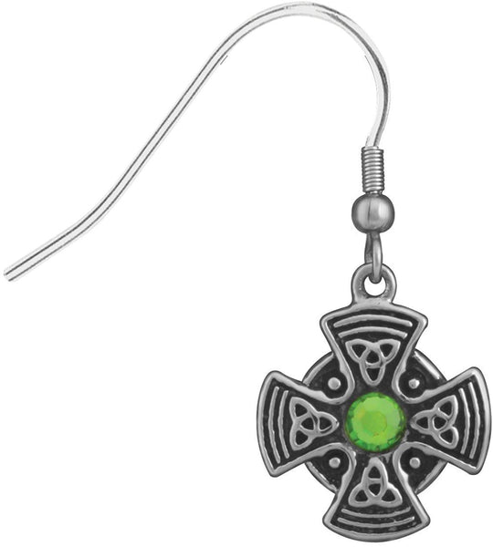 Celtic Shield Earrings Collectible Jewelry Accessory Tribal Dangles