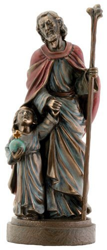 Joseph and Jesus Religious Christian Catholic Statue
