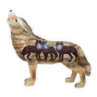 Pacific Giftware The Wolf Spirit Collection Aardwolf Wolfpack Collectible Figurine Howling Wolf 6.25L