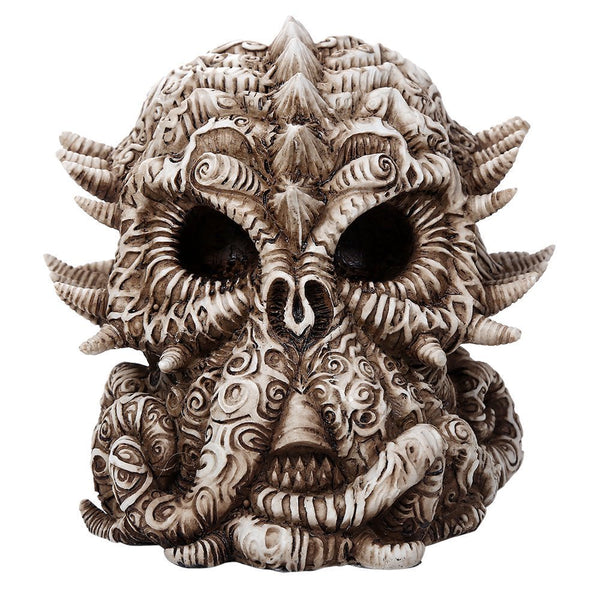 Pacific Giftware Cthulhu Skull Collectible Figurine Antique Skull Bone Finish 6 Inch L
