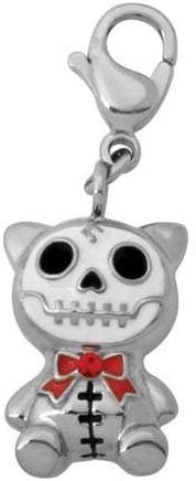 SUMMIT COLLECTION Furrybones Cat Mao Mao Skeleton Boy Key Chain Charm