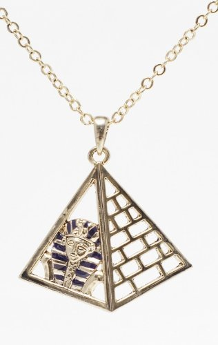 Mystica Collection Jewelry Necklace - Pyramid with King Tut