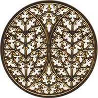 Gold Colored Lincoln Cathedral Rose Window Ornament Decoration