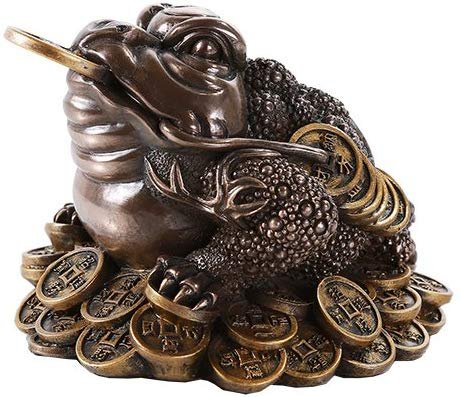 Pacific Giftware Feng Shui Chan Chu Bronze Money Frog Coin Toad Prosperity Home Decoration Gift