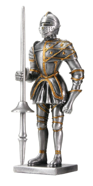 Pewter Spanish Knight Statue Figurine Decoration