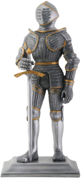 YTC Silver and Gold Gothic Knight Figurine