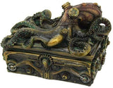 Pacific Giftware Steampunk Octopus Collectible Square Trinket box 5.5 inch L
