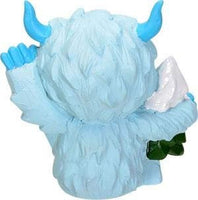 SUMMIT COLLECTION Furrybones Yeti Signature Skeleton in Abominable Snowman Costume with Snow Covered Tree Friend