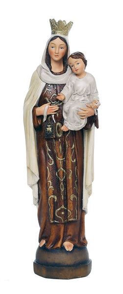 Pacific Giftware Our Lady of Mount Carmel Catholic Religous Figurine Sculpture 12 Inch